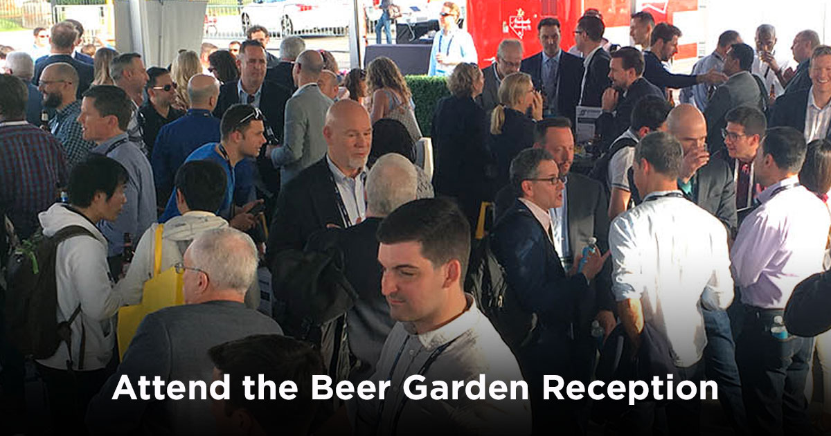 Attend the Beer Garden Reception